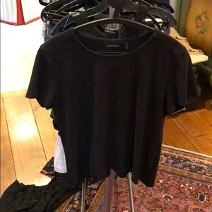 Faux suede shirt